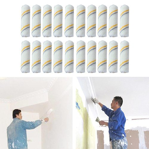 20pcs 4 Inch Foam Paint Roller Brush Craft Paint Foam Rollers Decorators Brush Smooth Tools Art Sets Painting Supplies