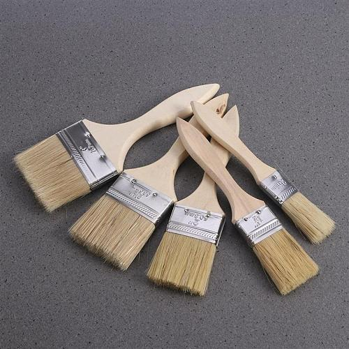 5PCS Paint Brushes Wooden Handle Bristle Brush Different Size Paint Brushes For Wall And Furniture Painting Tools