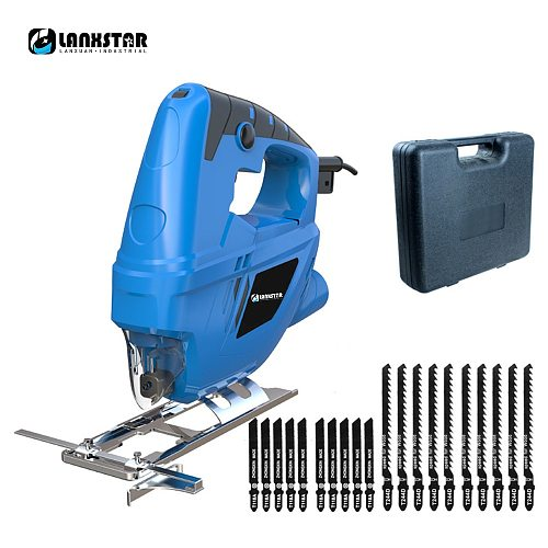 Lanxstar Electric Curve Saw Plus 20pcs Saw Blade Household Electric Woodworking Saw Multi-Function Dust Free Sawing Machine