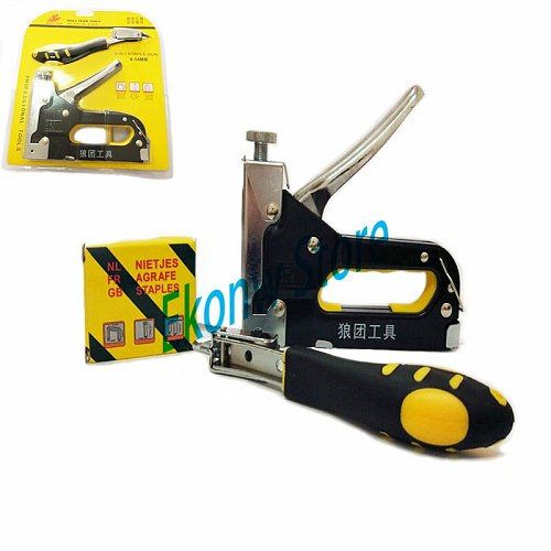 Staple Gun With Nail Puller Stapler For Wood Furniture,Door & Upholstery With 900 nails Furniture Stapler