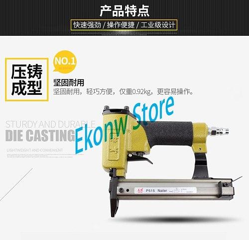 Pneumatic Nailer Gun Air staple pin Stapler Nail Gun Tools for photo frame tacker P515 For wooden
