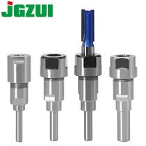 1 pc 1/4  8mm 12mm 1/2  Shank 6mm shank Router Bit Extension Rod Collet Engraving Machine Extension Milling Cutter for Wood