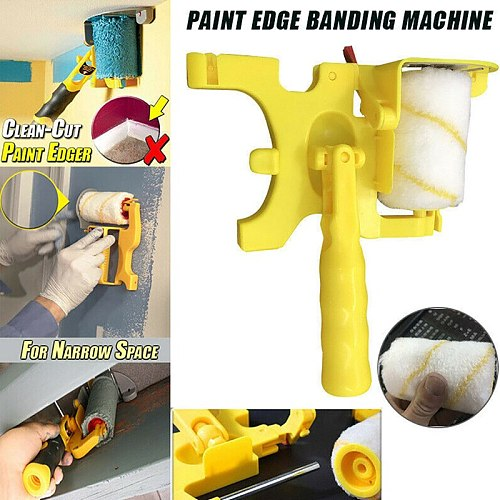 Wall Painting Roller Clean-Cut Paint Edger Roller Home Stamp Pattern Decoration Cylinder Roller Brush Tool