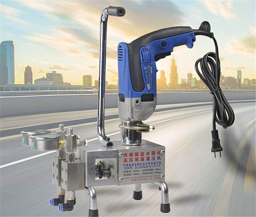 1500W Double Liquid Polyurethane Foam/epoxy Injection Grouting Machine 220V Acrylic Salt Water Curing Grouting Machine Paint
