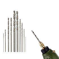 10Pcs High Speed HSS White Steel Twist Drill Bit Set For Dremel Rotary Tools