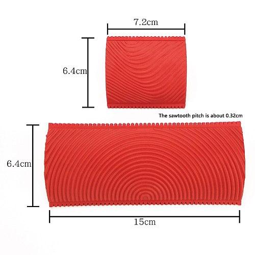 1set DIY Wood Graining Tool Kit Rubber Graining Pattern Stamp Imitation Wood Grain Paint Roller Brush Tool for Wall Painting Dec