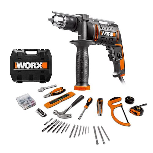 The new WX317 220V / 600W portable multifunctional drill. Handheld Impact Drill Electrician Tool with Attachment and Toolbox