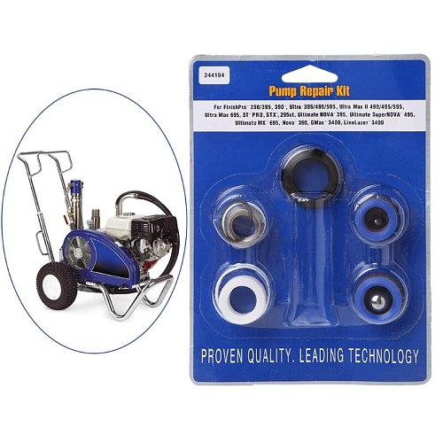 Pump Repair Packing Kit 244194 Fit For Sprayer 390 395 490 495 595 Spay Gun Tool G8TB