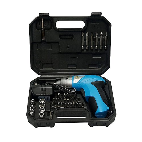 3.6V DC 180rpm Rechargeable Electric Screwdriver 46pcs Set with LED Light for Household Maintenance
