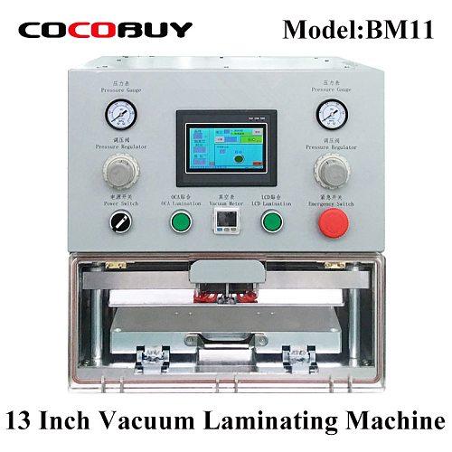 YMJ Tablet Vacuum Laminator Machine OCA film laminating for Mobile phone lcd and tablet screens 12.9 inch Refurbishing repair
