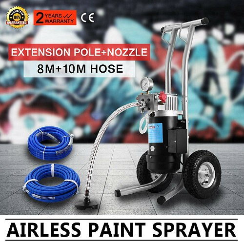Airless Wall Paint Sprayer Spray Gun DIY 3.8L/min Tech Professional Electric Commercial Use Integrated Inlet Filters