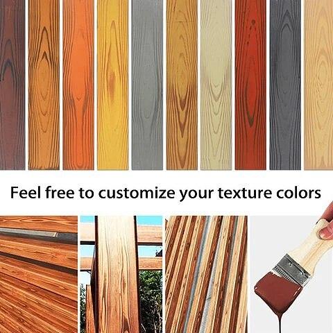 Wood Graining DIY Tool Set Imitation Wood Graining Pattern Wall Texture Art DIY Rubber Wood Grain Painting Tool Home Decoration