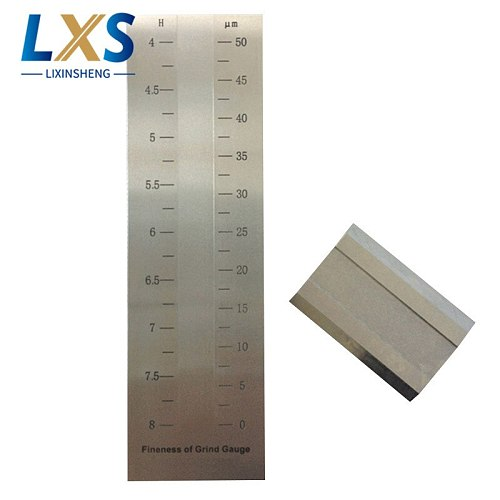 2.5um Scale Value Paint Gauge Single Groove stainless steel Fineness Of Grind Gauge For Paint BGD241/2 (0-50um)