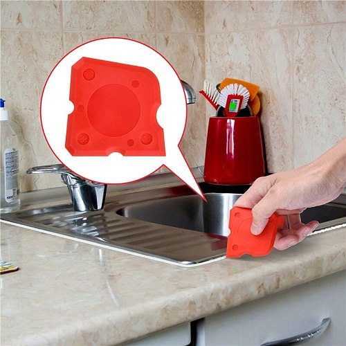 4PCS Silicone Scraper Grouts Remover Caulking Tool Kit Joint Sealant Floor Caulk Cleaning Tile Cleaner Tool for Bathroom Kitchen