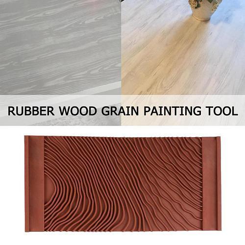 Rubber Wood Grain Painting Tool Imitation Wood Graining Pattern Wall Texture Art DIY Brush Painting Tool Home Decoration