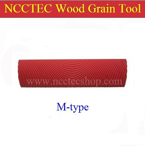 6'' M-type wood grain rubber tools   150mm Woodgrain painting tools for making wood grain Pattern on the wall   FREE shipping