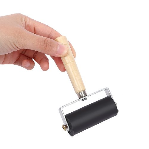 6cm Professional Rubber Roller Brayer Ink Painting Printmaking Roller Art Stamping Tool DIY Craft Tool For Kids