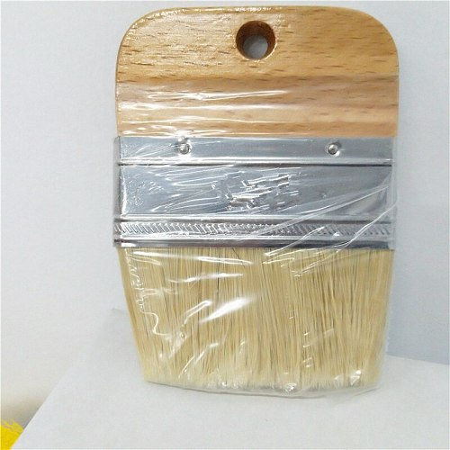 1 PC Wooden Handle Chalk Paint flat Brush Bristle Chalk Oil Paint Painting Wax Brush Artist Art Supplies Hand tool set free shi