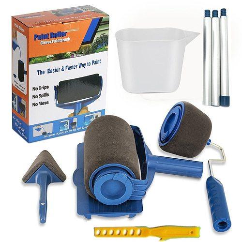 Seamless Paint Runner Pro Roller Brush Handle Tool Flocked Edger Office Room Wall Painting Home Garden Tool