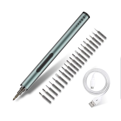 Cordless Electric Screwdriver Set 20 Pcs S2 Bit Rechargeable Screw Driver Kit for Phone Laptop PC Household Repair