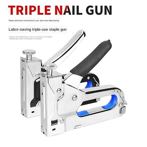 3 In 1 Heavy Duty Staple Gun for DIY Home Decoration Furniture Stapler Manual Nail Gun