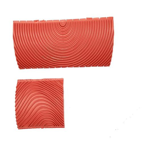 2PCS 3 Inch 6 Inch Imitation Wood Grain Paint Roller Brush Wall Painting Tool sets Wall Texture Art Painting Tool Set
