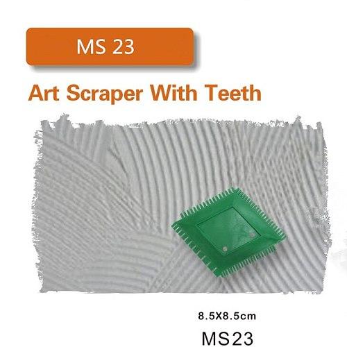 Scraper  Wallpaper roller Construction Tool Roller Brush Handle Wall Decoration Art Scraper With Teeth