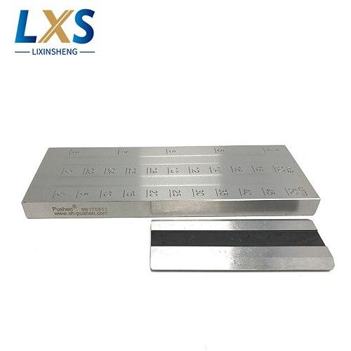 0-50um PUSHEN Stainless Steel Double Groove Paint Fineness Gauge