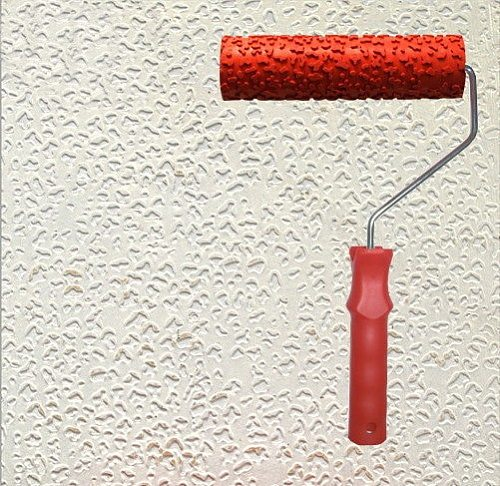 Diatom ooze tools patterned roller for wall decoration 7 inch rubber textured roller with handle no.039