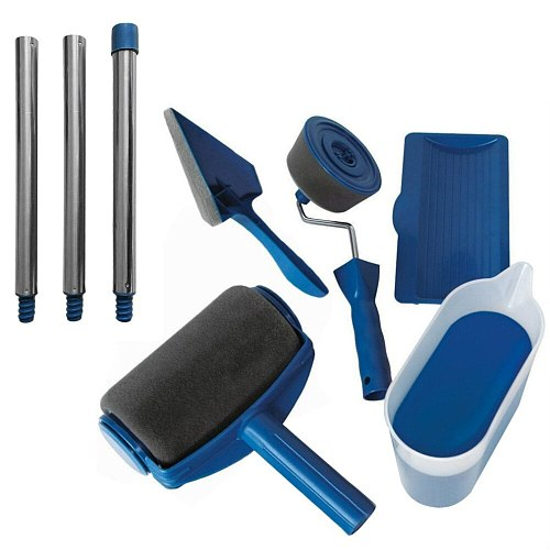 Paint Runner Roller Pro Rollers Wall Painting Kit Wall Brush Handle Tool Edger Room Garden Painting + Extension Pole Tube DIY