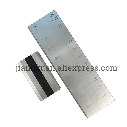 0-100um PUSHEN Stainless steel Single Groove Fineness of Grind Gauge Hegman