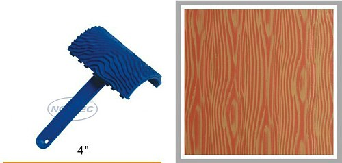 4'' rubber wood Grain liquid wallpaper tools NWG42 FREE shipping   100mm woodgrain tool   art textured tools