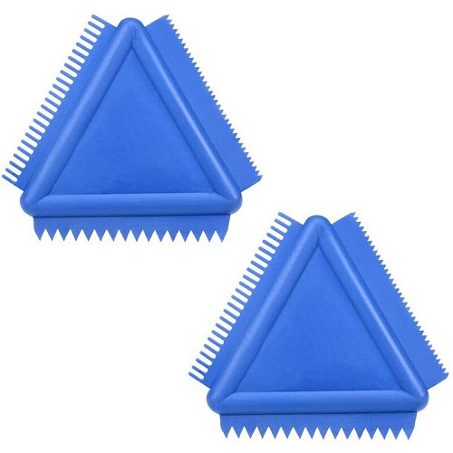 TOP Wood Grain Tool 4 Inch Rubber Graining Pattern Scraper Tool for Wall Painting Decoration DIY MS14(Blue 2Pcs)