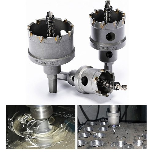 1Pcs 16-100mm K10 Carbide Tip HSS Drills Bit Hole Saw Cutter For Stainless Steel Metal Drilling Alloy TCT Hole Saw Set