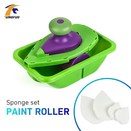 Tungfull Paint Roller Household Decorative Tool Easy To Operate Household Painting Brush Decorative Tool 4pcs Sponge Point