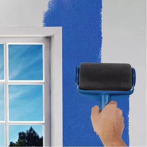 8pcs Multifunctional Paint Runner Pro Roller Brush Tool Set Paint Roller Set Room Wall Painting Brushes Set Home Repack Tool