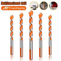 Ultimate Drill Bits Twist Drill Head Wall Ceramic Glass Marble Punching Hole Hand Electric Drill Wood Working Set
