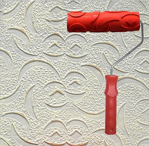 Diatom ooze tools wall painting tool 7 inch rubber embossed roller for wall decoration no.033