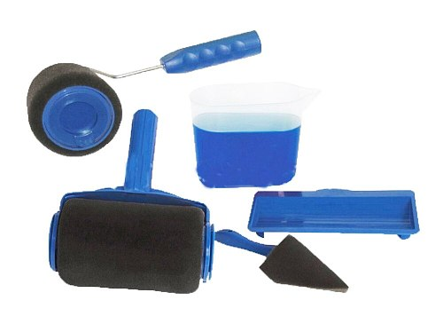 6 pcs paint tool roller handle  Creative tool set household Drum type multi-function Paint brush roller set