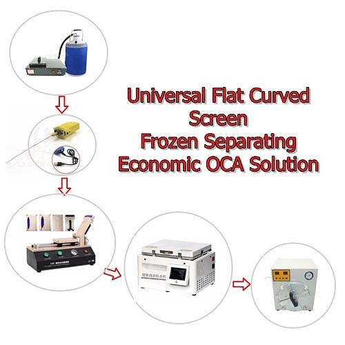 LY universal flat curved screen frozen separating economic OCA glue remover film laminator bubble defoam machine LCD repair