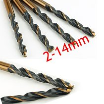 Wholesales 1pc Twist Drill Bit HSS Drill Set 2.0-14.5mm, for Drilling on Hardened Steel, Cast Iron & Stainless Steel