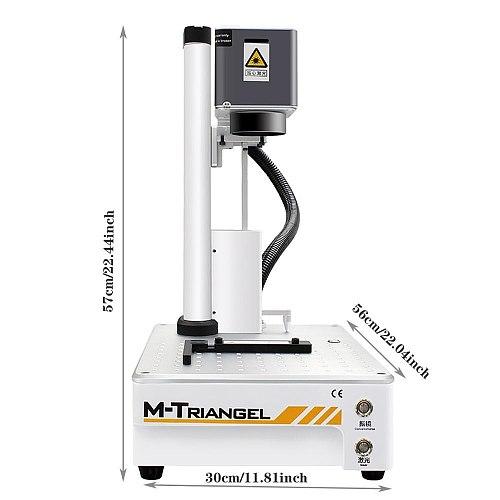M-Triangel Mgone 20W CNC Laser Engraver DIY Logo Mark Printer Cutter Laser Engraving Machine Mobile phone Back Glass Remover