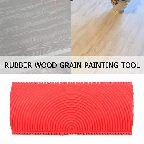 2pcs/set Red Rubber Wood Grain Paint Roller DIY Graining Painting Tool Wood Grain Pattern Wall Painting Roller Home Tool DA