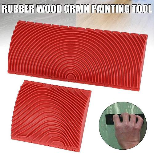 Wood Grain Paint Roller Household Wall Art Paint Rubber Wood Graining Diy Tool Wood Graining Tool Wall Art Painting Decoration