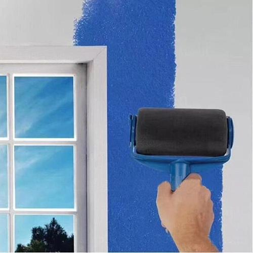 8pcs DIY Paint Roller Brush Tools Set Household Use Wall Decorative Handle Flocked Edger Multifunctional Painting Brushes Tool