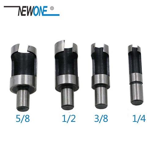 8Pcs Wood Plug Cutter Drill Cutting Tool Drill Bit Set Straight And Tapered Taper 5/8  1/2  3/8  1/4  Woodworking Cork Drill Bit