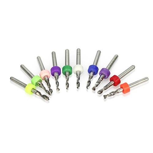 10pcs 2.1-3.0mm Carbide PCB Circuit Board Drill Bit CNC Machine Drill Bit Set Micro Twist Drill Bit