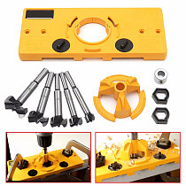 35MM Cup Style Hinge Jig Boring Hole Drill Guide and Forstner Bit Wood Cutter Carpenter Woodworking DIY Tools