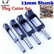 JUSTINLAU Straight And Round Wood Plug Hole Cutter Plug Cutting Drill Take Steel Knife Log Tenon Cork Woodworking Drilling Tool