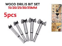 wholesale 5pcsForstner Wood Drill Bit Self Centering Hole Saw Cutter Woodworking Tools Set 15/20/25/30/35mm Forstner Drill Bits